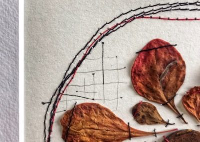 Mixed Media, Kunst, Cotoneaster, Blätter, Detail Poetry