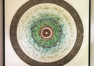 Assemblage, Kunst, Meerglas, Fundstücke, Detail