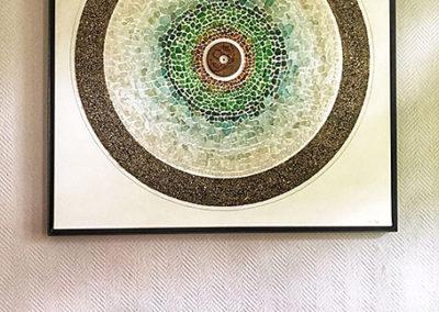 Assemblage, Kunst, Wandel, Meerglas, Fundstücke, Detail
